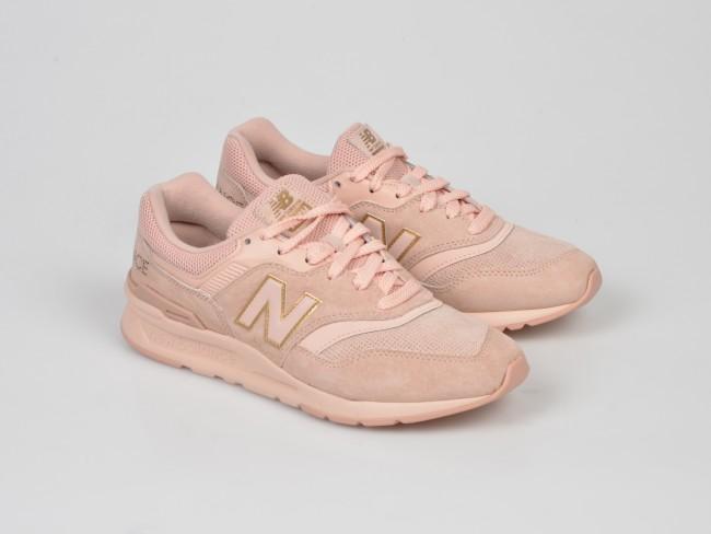 NEW BALANCE roz, CW997, din material textil si piele naturala