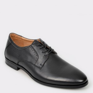 Pantofi OTTER negri, 8101703, din piele naturala