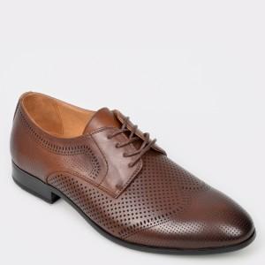 Pantofi OTTER maro, 8101705, din piele naturala