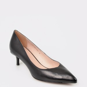 Pantofi EPICA negri, L824S63, din piele naturala