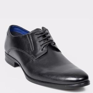 Pantofi BUGATTI negri, 44606, din piele naturala