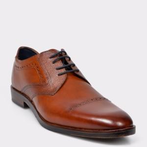 Pantofi BUGATTI maro, 52802, din piele naturala