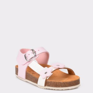 Sandale LA COMPANIA NATURAL roz, din piele ecologica