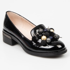 Pantofi EPICA negri, 8l2lrq7, din piele naturala lacuita