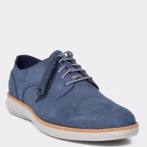 Pantofi CLARKS bleumarin, Fairford Run, din nabuc
