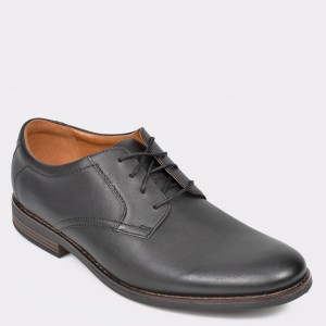 Pantofi CLARKS negri, Becklac, din piele naturala - cl9n01111b7becklac diagonala simpla fundal gri - Pantofi CLARKS negri, Becklac, din piele naturala