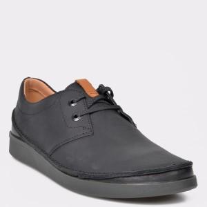 Pantofi CLARKS negri, Oakland Lace, din piele naturala