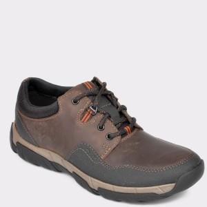 Pantofi CLARKS maro, Walbii, din piele naturala - cl9n02111b7walbii9 diagonala simpla fundal gri - Pantofi CLARKS maro, Walbii, din piele naturala