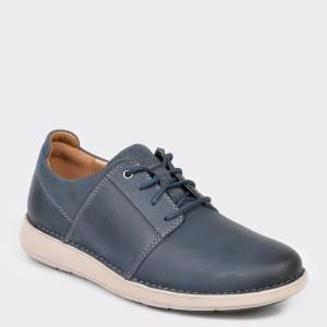 Pantofi CLARKS bleumarin, Un Larvik Lace, din piele naturala
