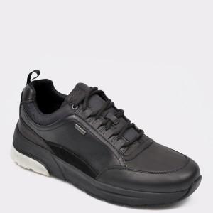 Pantofi Sport Geox Negri, U947wa, Din Piele Naturala