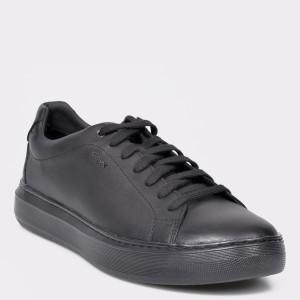 Pantofi sport GEOX negri, U845WB, din piele naturala