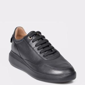 Pantofi sport GEOX negri, D84APA, din piele naturala