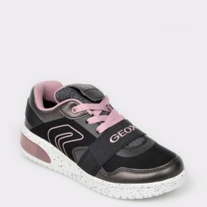 Pantofi sport GEOX negri, J928DA, din piele ecologica
