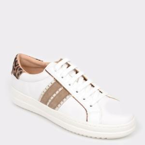Pantofi Sport Geox Albi, D94fed, Din Piele Naturala
