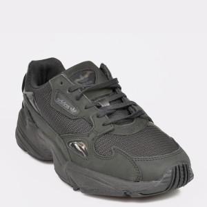 Pantofi sport ADIDAS negri, G26880, din material textil si piele intoarsa