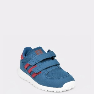 Pantofi ADIDAS bleumarin, Ee6589, din material textil si piele intoarsa