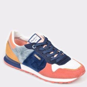 Pantofi sport PEPE JEANS multicolori, Ls30902, din piele ecologica