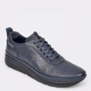 Pantofi OTTER bleumarin, M542, din piele naturala