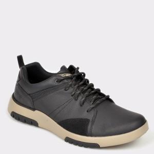 Pantofi SKECHERS negri, 66323, din piele naturala