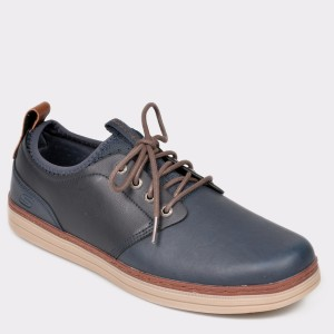 Pantofi SKECHERS bleumarin, 65877, din piele naturala