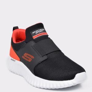 Pantofi sport SKECHERS negri, 52775, din material textil