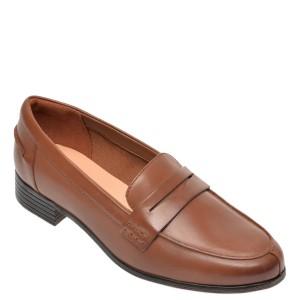 Mocasini CLARKS maro, Hamble Loafer, din piele naturala