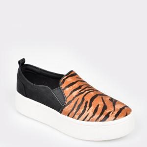 Pantofi ALDO negri, Alarka, din material textil si piele naturala