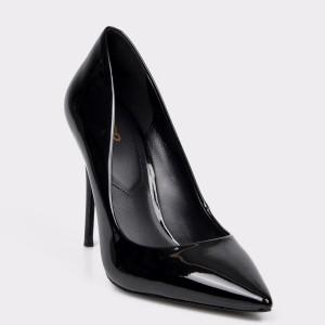 Pantofi ALDO negri, Stessy, din piele ecologica lacuita