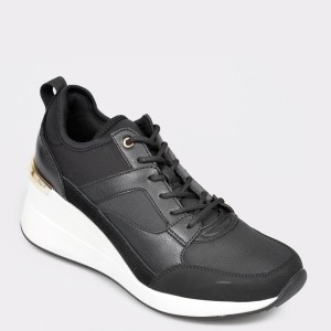 Pantofi ALDO negri, Thrundra, din material textil.