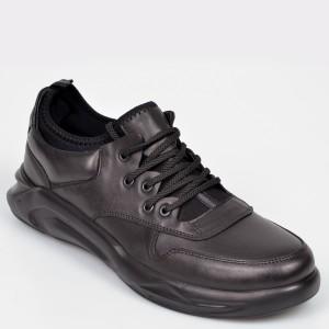 Pantofi OTTER negri, 2801, din piele naturala