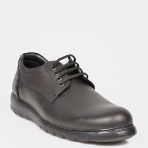 Pantofi OTTER negri, 505, din piele naturala