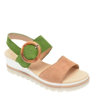 Sandale GABOR verzi, 44645, din piele intoarsa