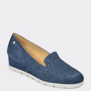 Pantofi STONEFLY bleumarin, Milly15, din piele intoarsa