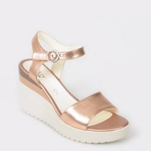 Sandale STONEFLY aurii, Ely7, din piele naturala