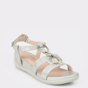 Sandale STONEFLY argintii, Eve16, din piele naturala