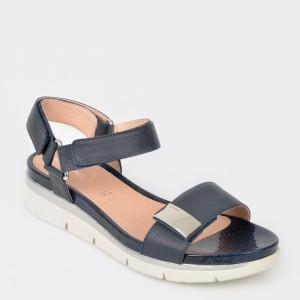 Sandale STONEFLY bleumarin, Elody9, din piele naturala
