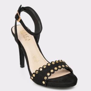 Sandale EPICA negre, 20546, din piele ecologica
