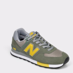Pantofi sport NEW BALANCE kaki, ML574, din piele intoarsa
