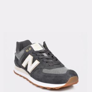 Pantofi sport NEW BALANCE gri, ML574, din piele intoarsa