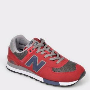 Pantofi sport NEW BALANCE rosii, ML574, din piele intoarsa