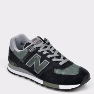 Pantofi sport NEW BALANCE negri, ML574, din piele intoarsa