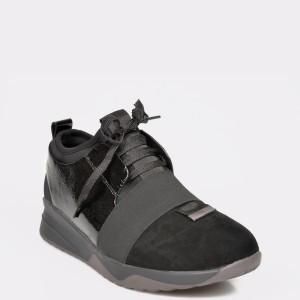 Pantofi sport EPICA negri, 7397901, din piele naturala