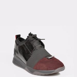 Pantofi sport EPICA visinii, 7397901, din material textil si piele naturala