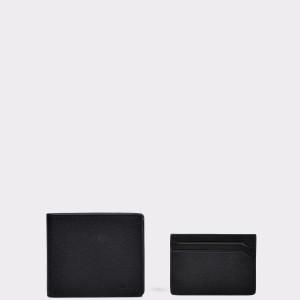 Set Cadou HUGO BOSS negru , 8848, din piele naturala