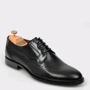Pantofi LE COLONEL negri, 45240, din piele naturala