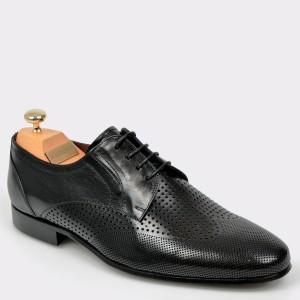 Pantofi LE COLONEL negri, 60006, din piele naturala