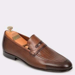 Pantofi LE COLONEL maro, 60510, din piele naturala
