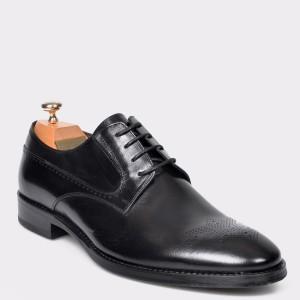 Pantofi LE COLONEL negri, 61204, din piele naturala