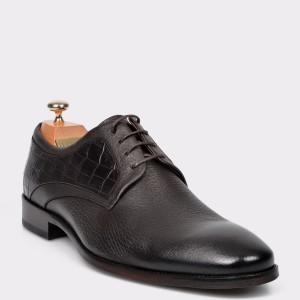 Pantofi LE COLONEL maro, 33843, din piele naturala