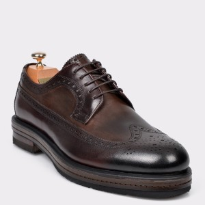 Pantofi LE COLONEL maro, 47002, din piele naturala
